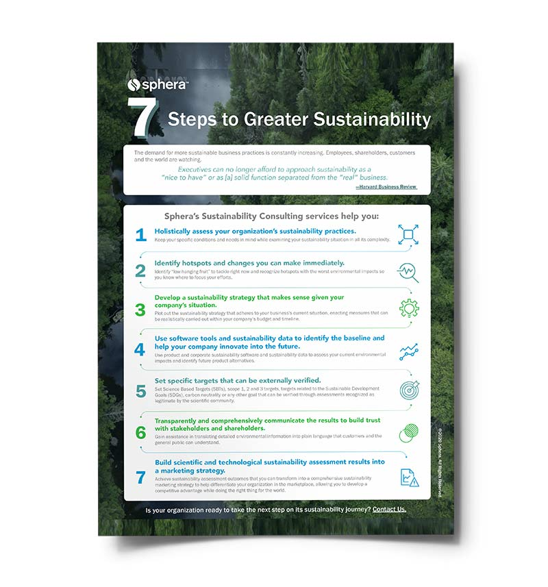 7 Steps to Greater Sustainability