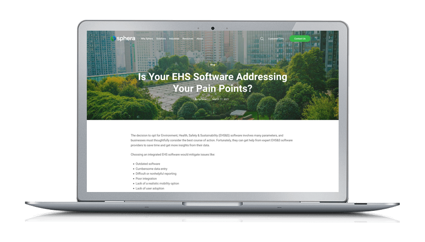 Is Your EHS Software Addressing Your Pain Points?