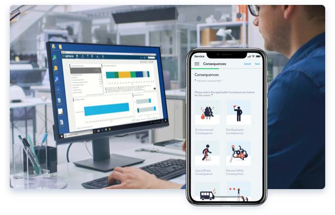 chemical data management software mobile view